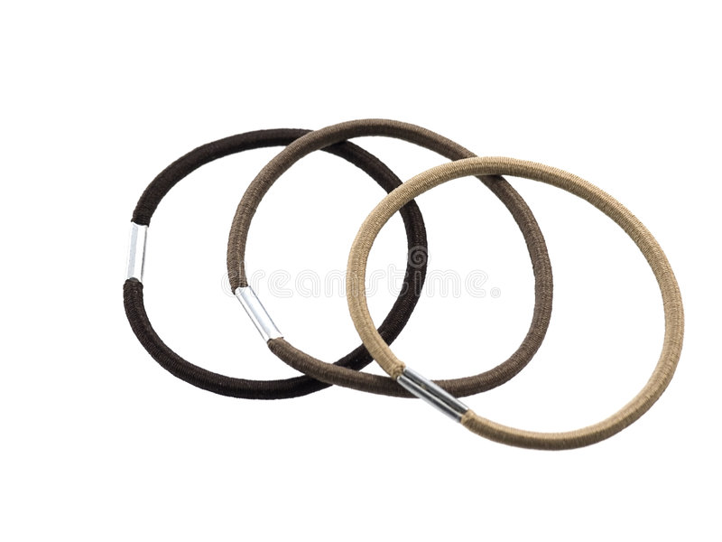 Elastic bands for hair royalty free stock photography
