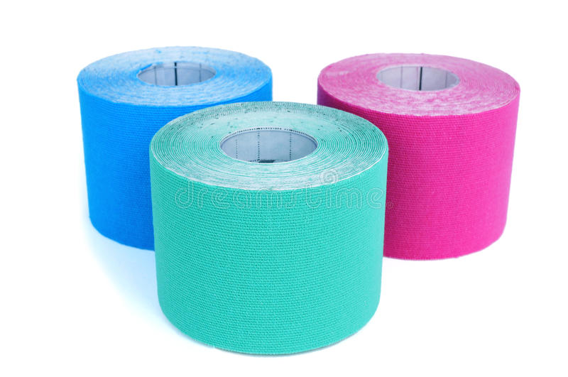 Elastic therapeutic tapes stock photography