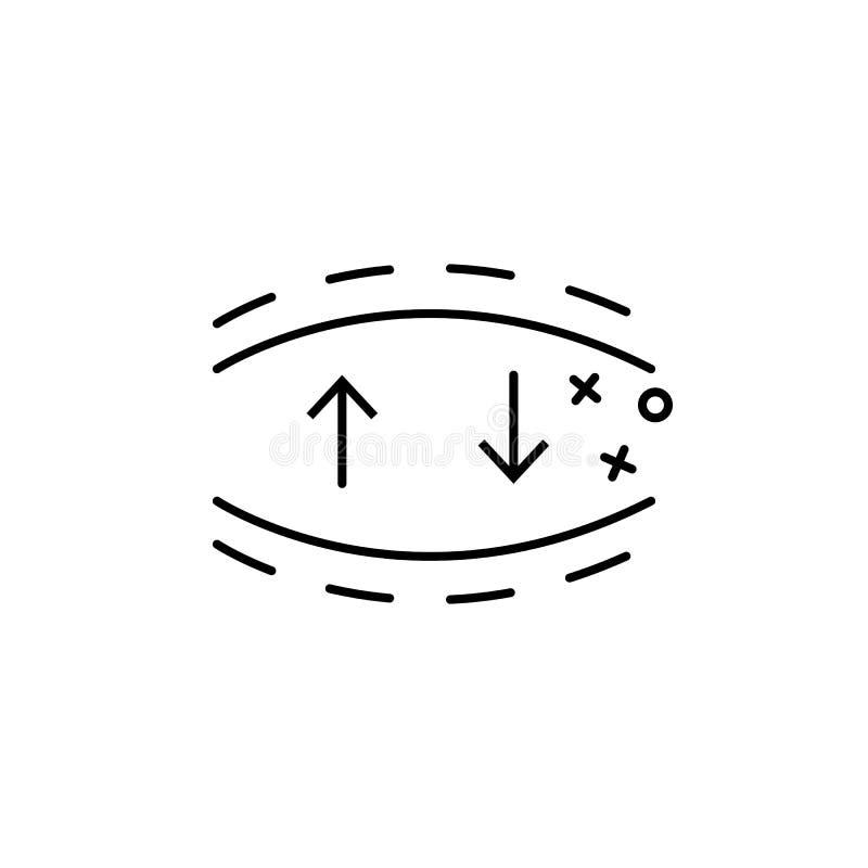 Elastisch pictogram voor textiel Element van het pictogram van de eigenschappen van de stof stock illustratie