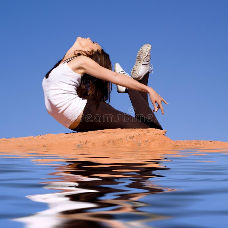 elastyczna gimnastyczka zdjęcia stock