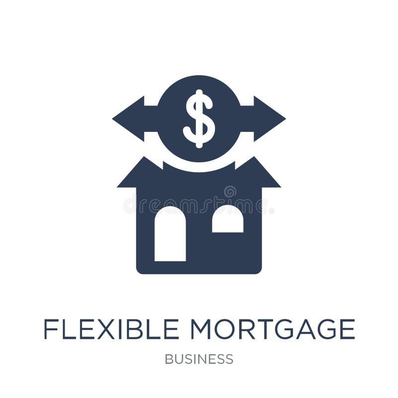 Elastyczna hipoteczna ikona Modny płaski wektorowy Elastyczny hipoteczny ico ilustracja wektor