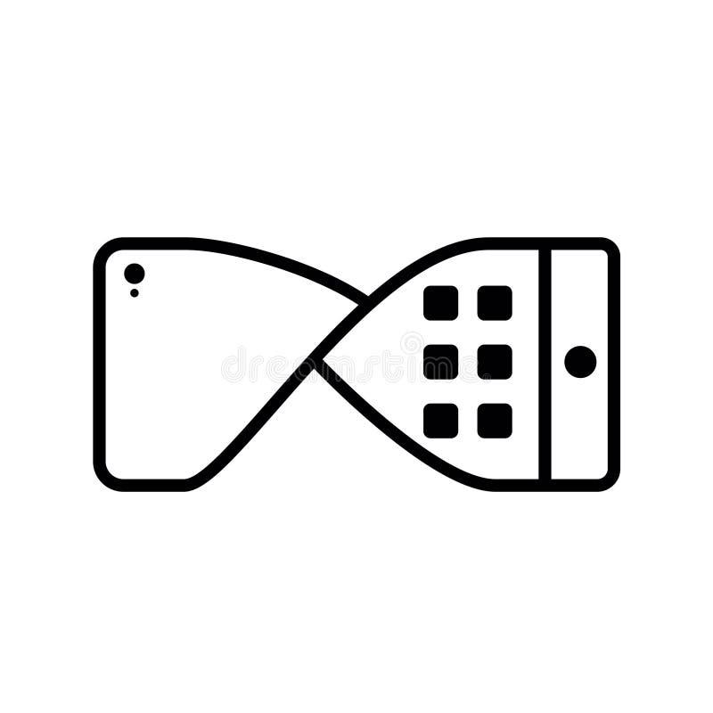 Elastycznej technologii wyświetlaczy płaska wektorowa ikona być use dla graficznych elementów lub w app, stronie internetowej, in royalty ilustracja
