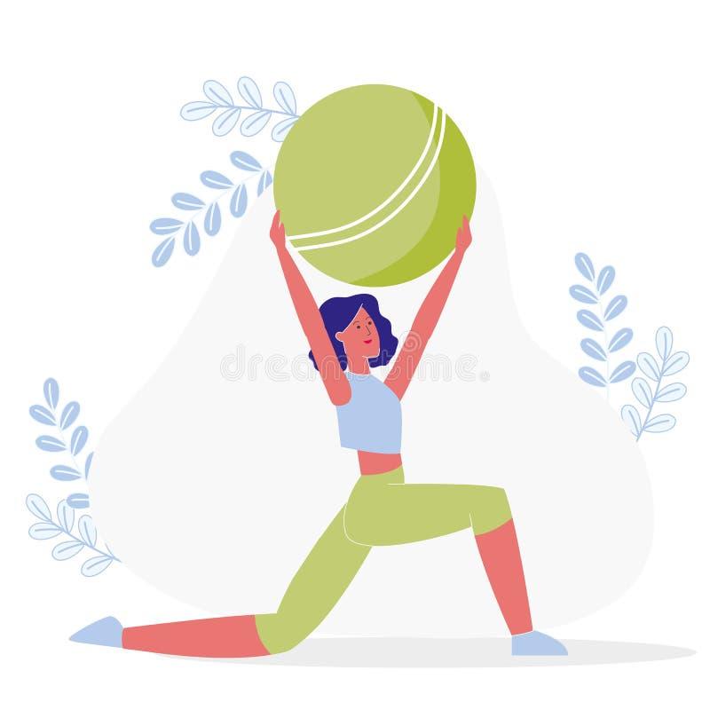 Elastyczności ćwiczenie, treningu wektoru ilustracja royalty ilustracja