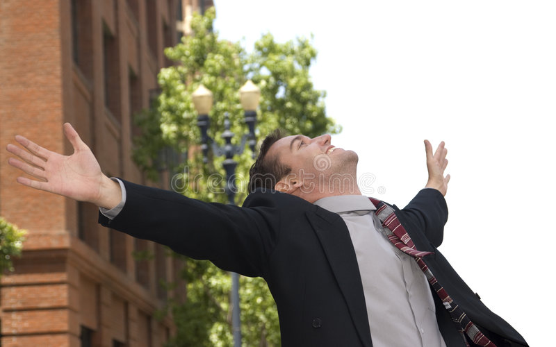 Elated Businessman Stock Photography