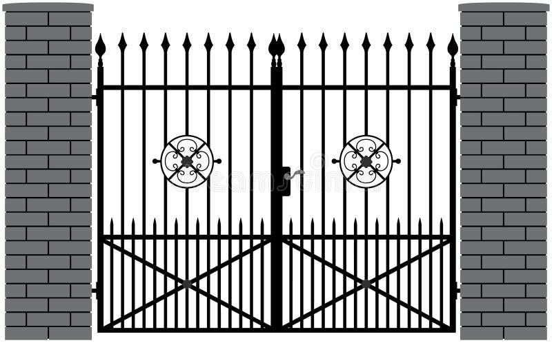 Żelazna brama 4 ilustracja wektor