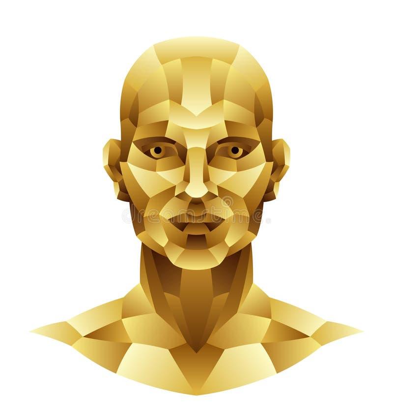 Żelazna mężczyzna głowa ilustracja wektor