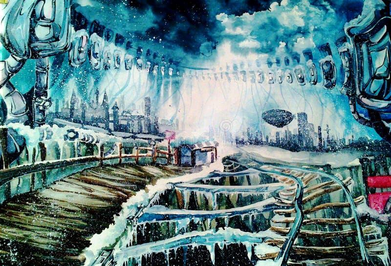 Żelazna zima royalty ilustracja