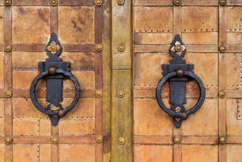 Żelazni drzwi obrazy royalty free