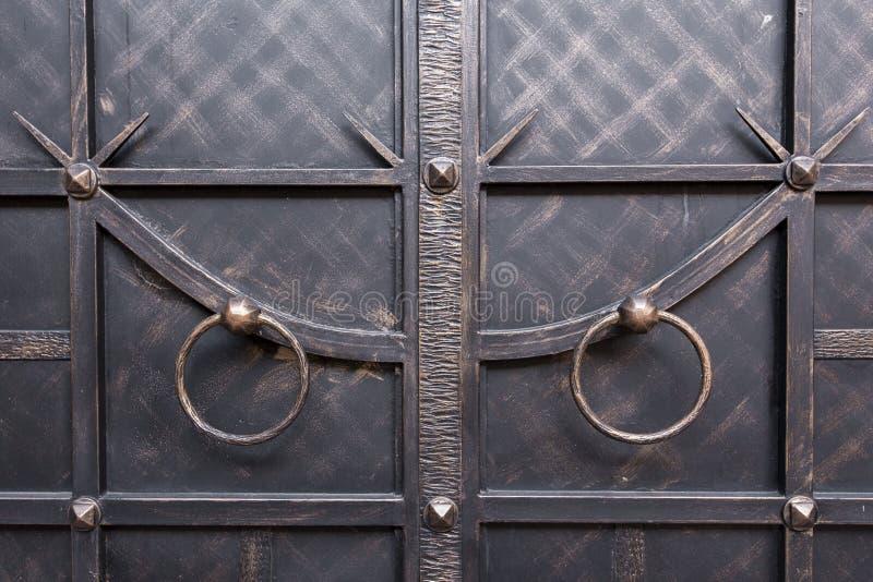 Żelazni drzwi zdjęcie stock