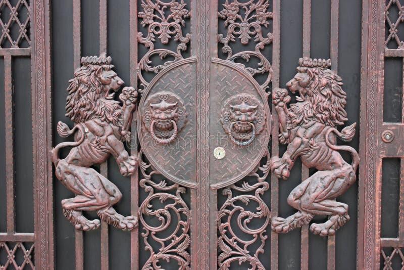 Żelazny drzwi zdjęcia stock