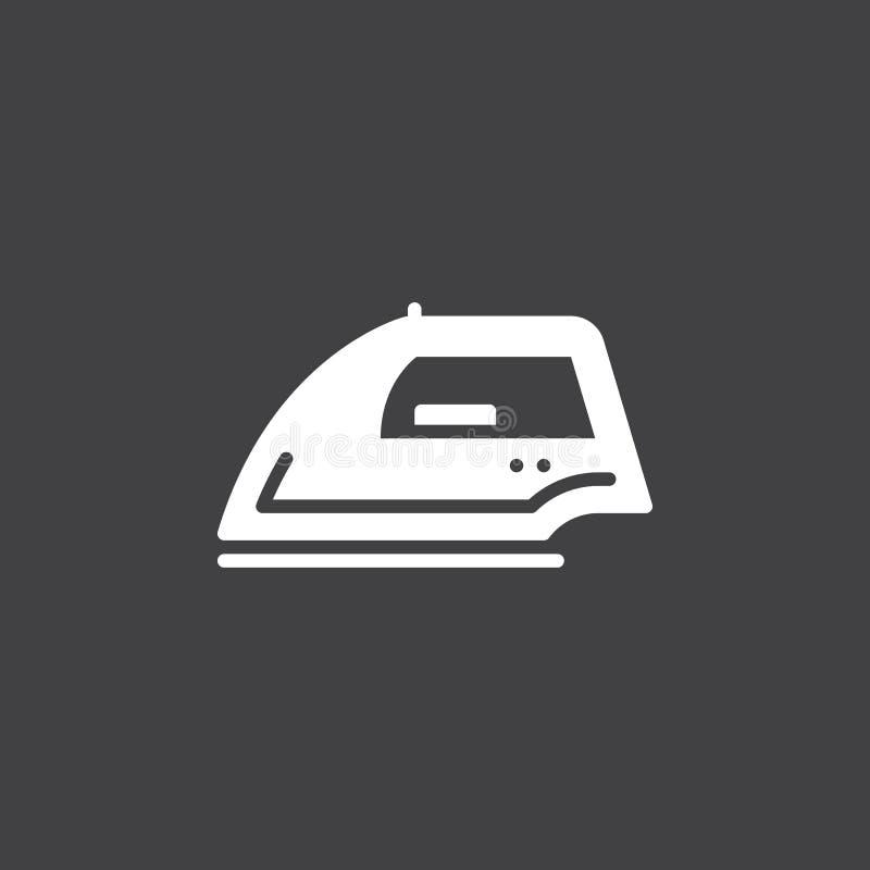 Żelazny ikona wektor, wypełniający mieszkanie znak, stały biały piktogram ilustracji