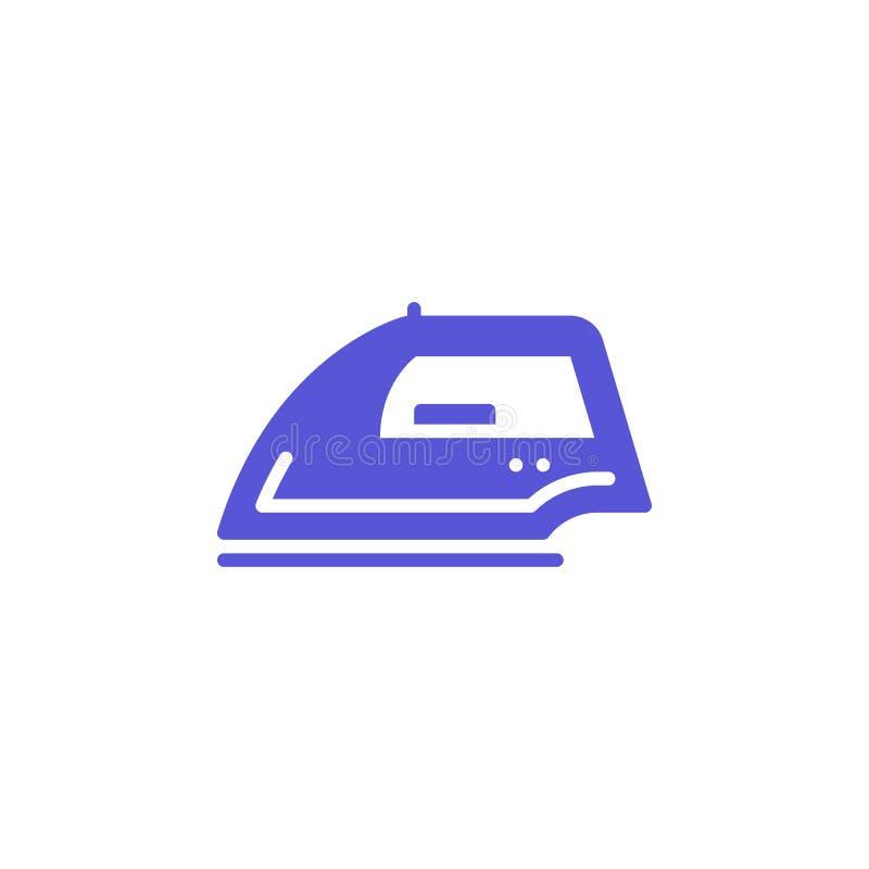 Żelazny ikona wektor, wypełniający mieszkanie znak, stały kolorowy piktogram odizolowywający na bielu ilustracji