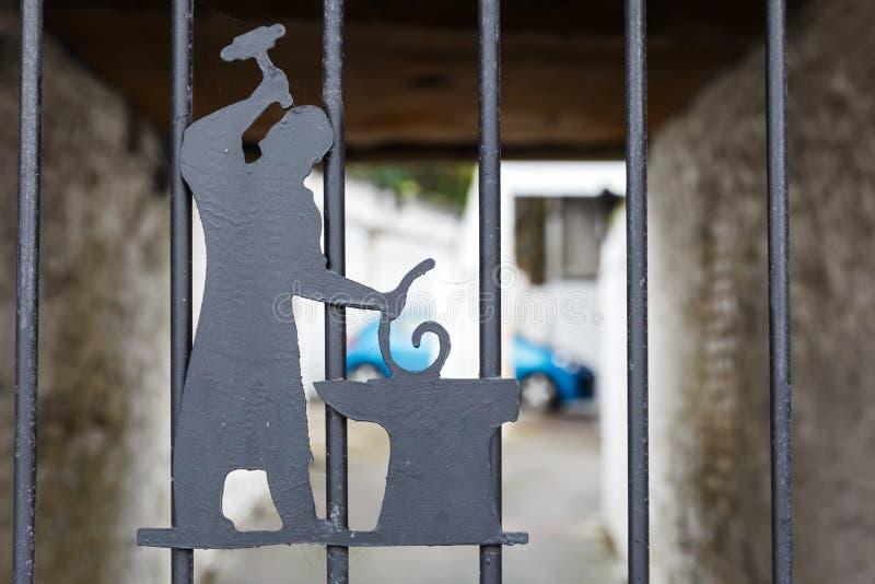 Żelazny symboliczny blacksmith zdjęcia royalty free