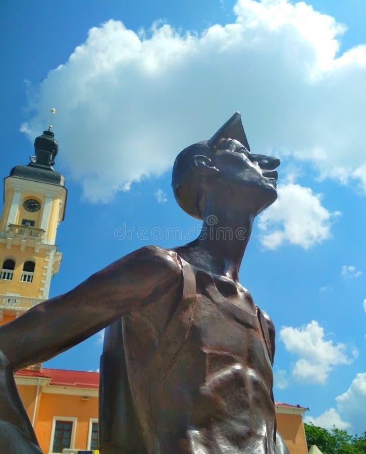 ?elazny turysta, Kamenets-Podolsky, Ukraina zdjęcie royalty free