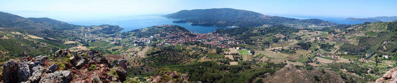 Elba-Inselpanorama, Toskana, Italien, Europa lizenzfreie stockfotos