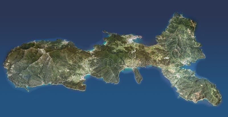 Elba Island, Toscana, visión desde arriba libre illustration