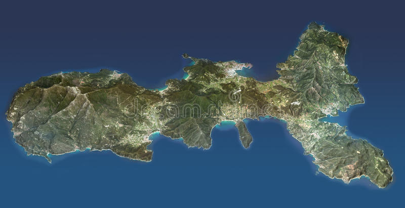 Elba Island, Tuscany, view from above royalty free illustration