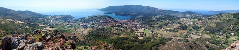 Elba wyspy panorama, Tuscany, Włochy, Europa zdjęcia royalty free