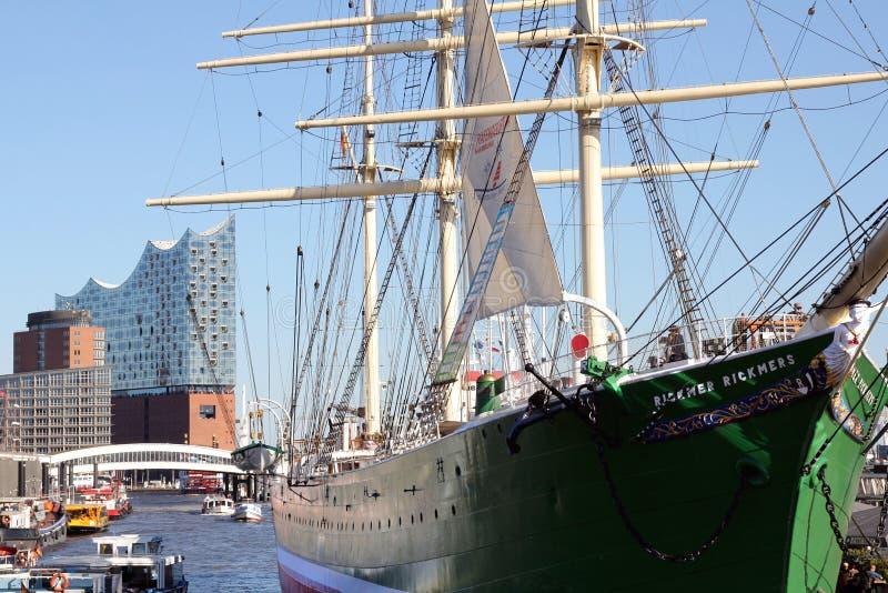 Elbe Filharmonische Zaal stock foto's