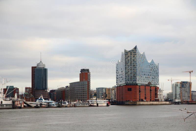 Elbe Philharmonic Hall, Hamburgo, Alemania foto de archivo libre de regalías
