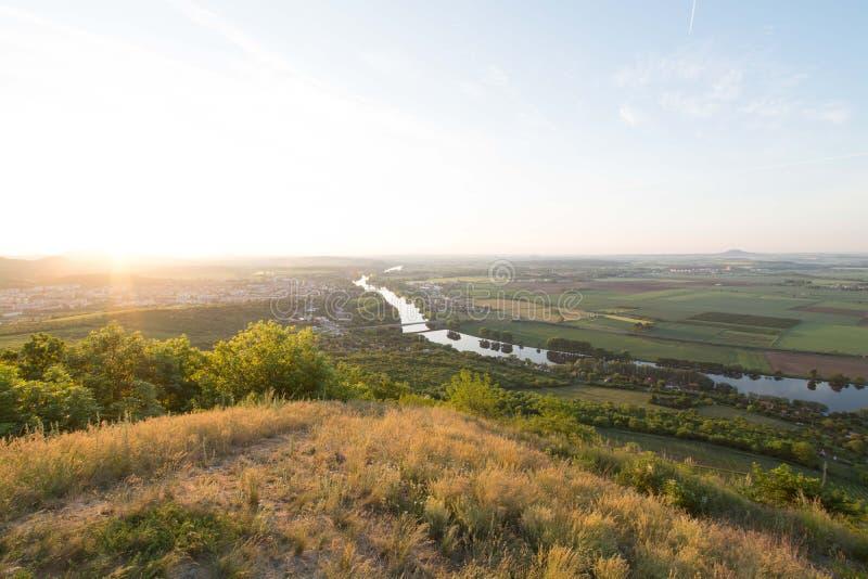 Elbe River imagens de stock