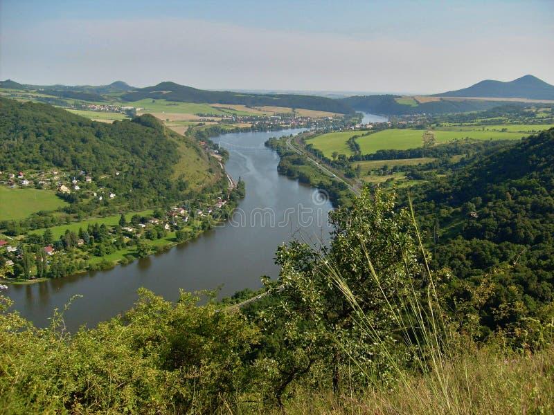Elbe vallei royalty-vrije stock foto's