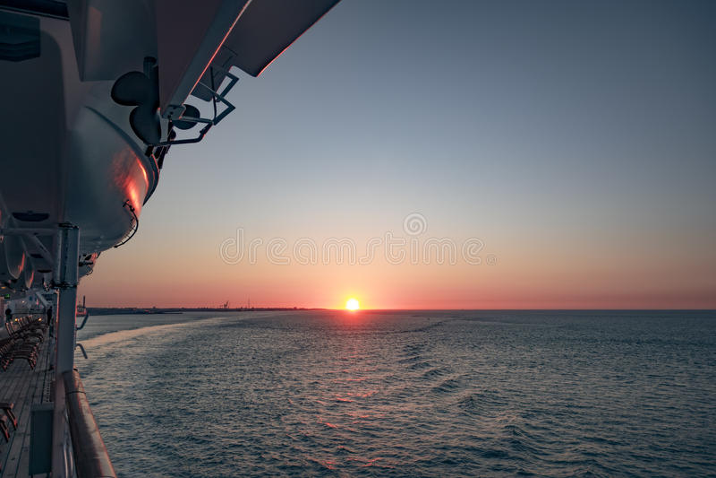 Elbe zonsondergang stock fotografie