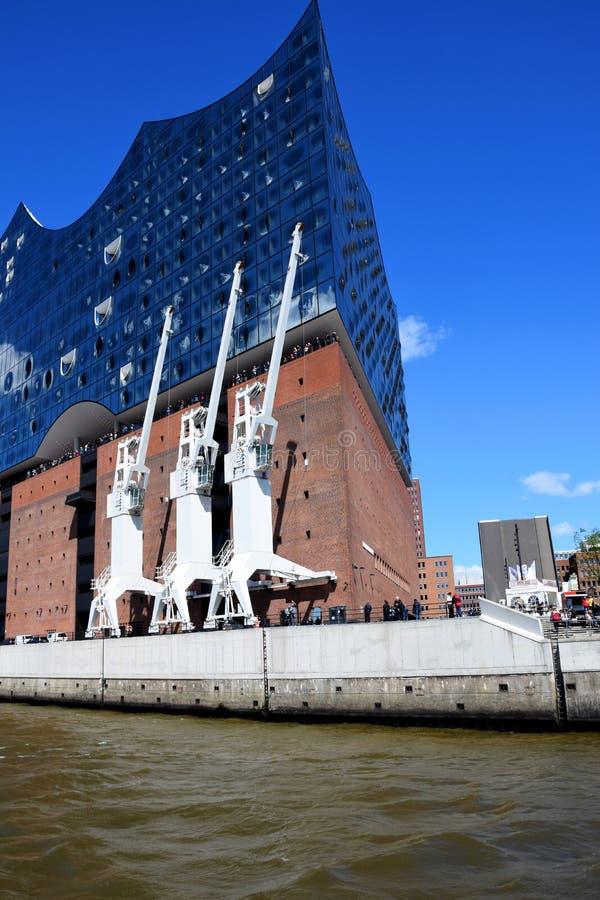 Elbfilharmonie, Hafengeburtstag St pauli-Landungsbrucken royalty-vrije stock afbeeldingen