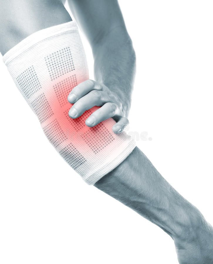 Download Elbow pain stock photo. Image of person, protection, bandage - 21576446