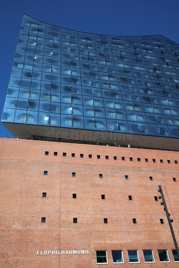 Elbphilharmonie in Hafencity District in Hamburg. Germany royalty free stock photo