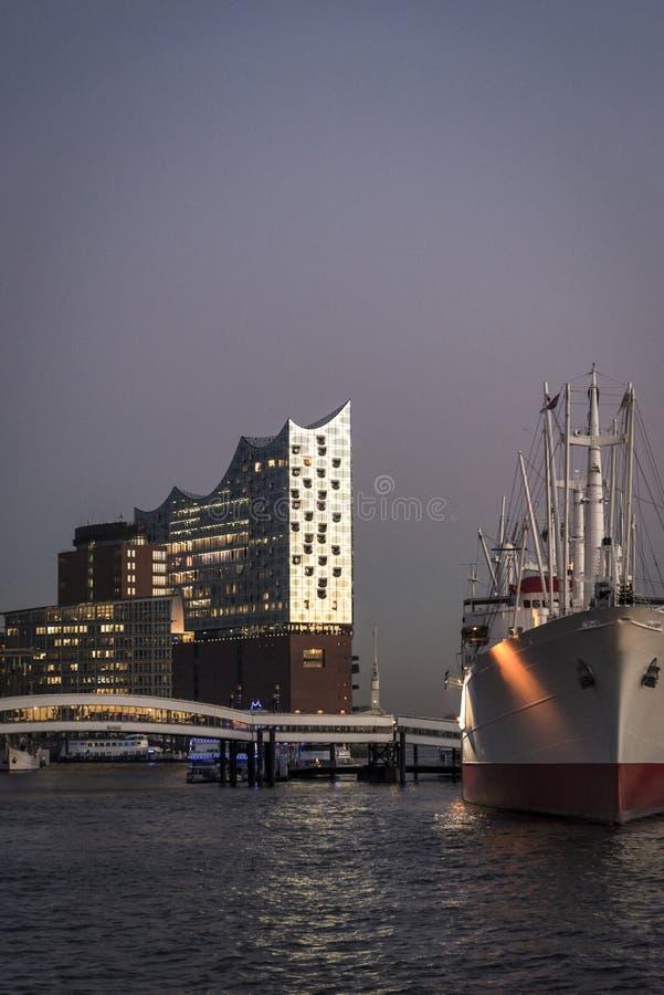 Elbphilharmonie filharmonia, Hamburg, Niemcy obrazy royalty free