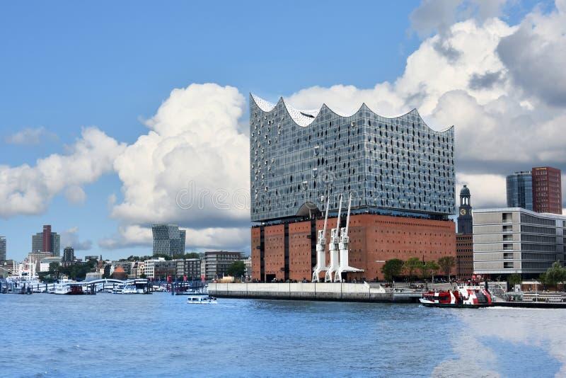 Elbphilharmonie filharmonia, nowożytny budynek w Hamburg obrazy stock