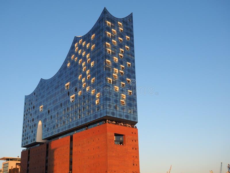 Elbphilharmonie filharmonia w Hamburg zdjęcie stock