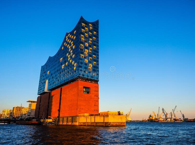 Elbphilharmonie filharmonia w Hamburskim hdr obraz stock