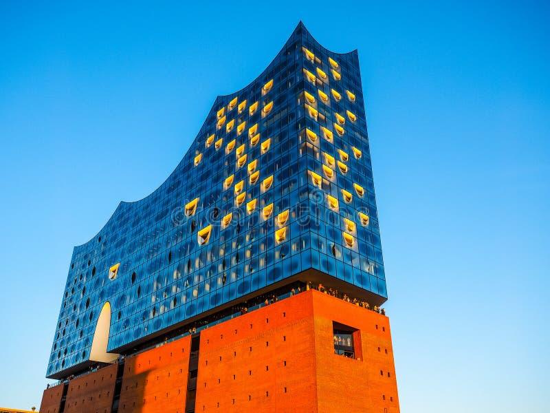 Elbphilharmonie filharmonia w Hamburskim hdr fotografia stock