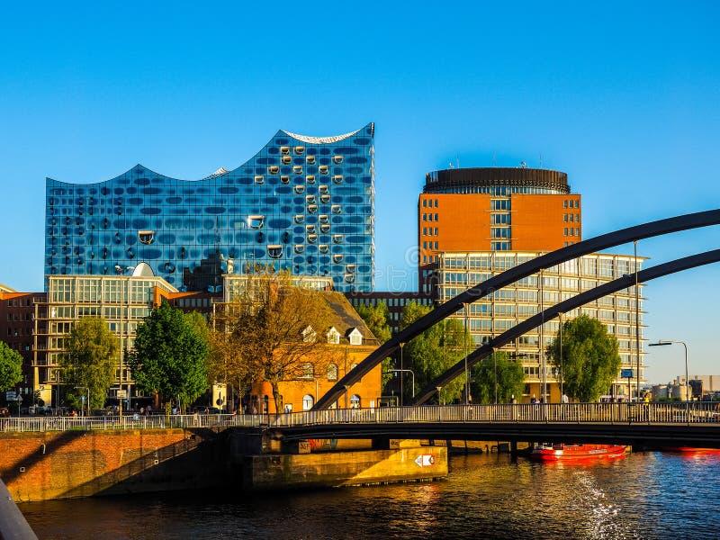 Elbphilharmonie filharmonia w Hamburskim hdr obrazy royalty free