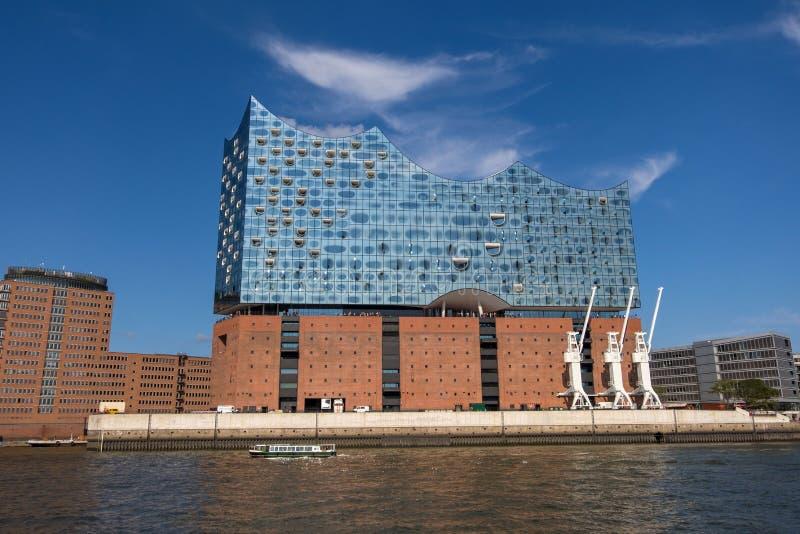 Elbphilharmonie, filharmonia w porcie Hamburg na Elbe rzece germany Hamburg obrazy stock