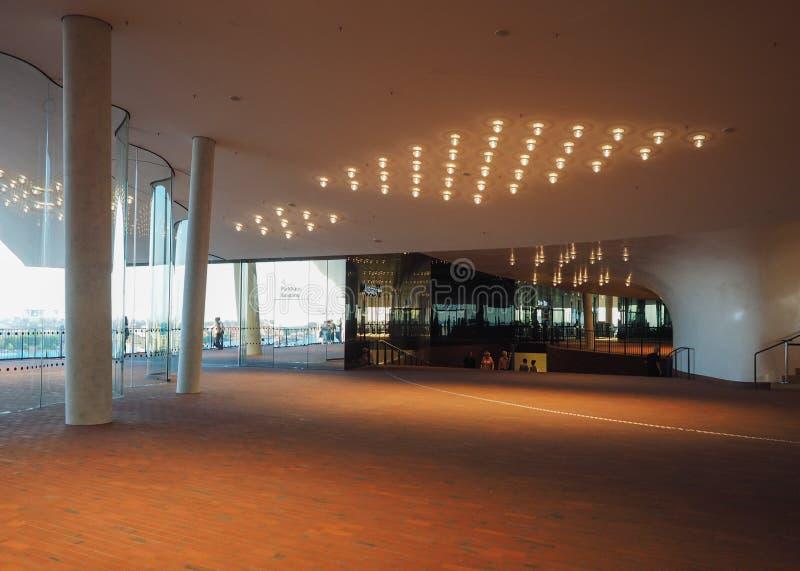 Elbphilharmonie filharmonii plac w Hamburg zdjęcia royalty free