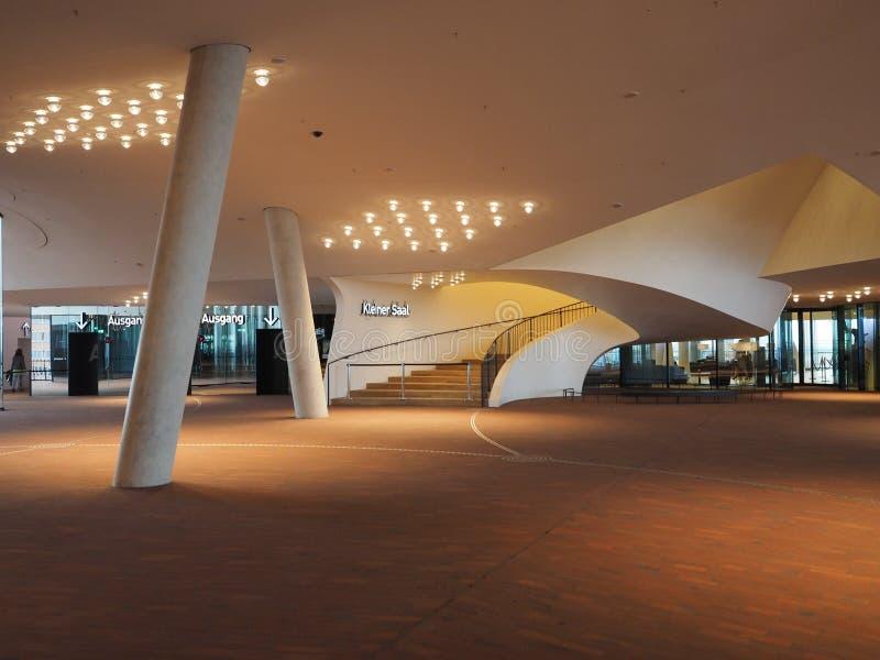 Elbphilharmonie filharmonii plac w Hamburg zdjęcia stock