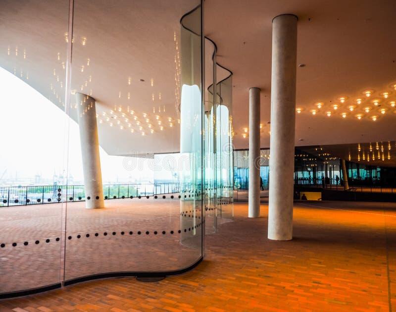 Elbphilharmonie filharmonii plac w Hamburskim hdr fotografia royalty free