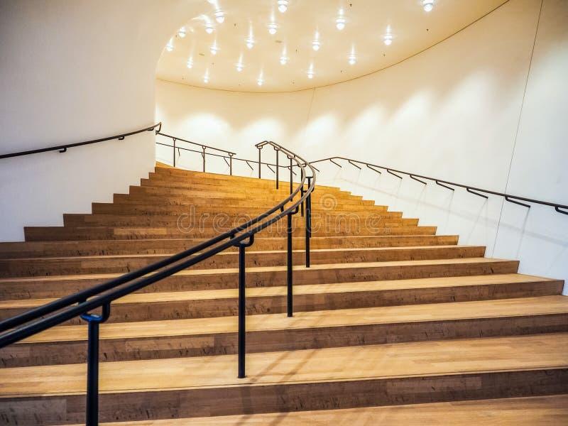 Elbphilharmonie filharmonii plac w Hamburskim hdr zdjęcia stock