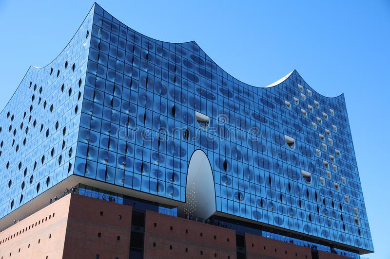 Elbphilharmonie in Hafencity District in Hamburg. Germany royalty free stock image