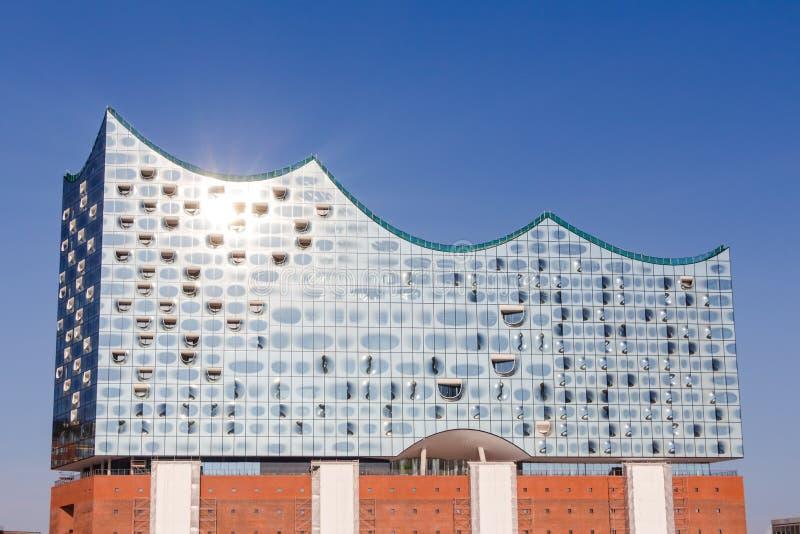 Elbphilharmonie w HafenCity ćwiartce Hamburg fotografia stock