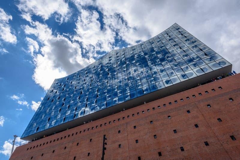 Elbphilharmonie w HafenCity okręgu, Hamburg, Niemcy, Europa obraz stock