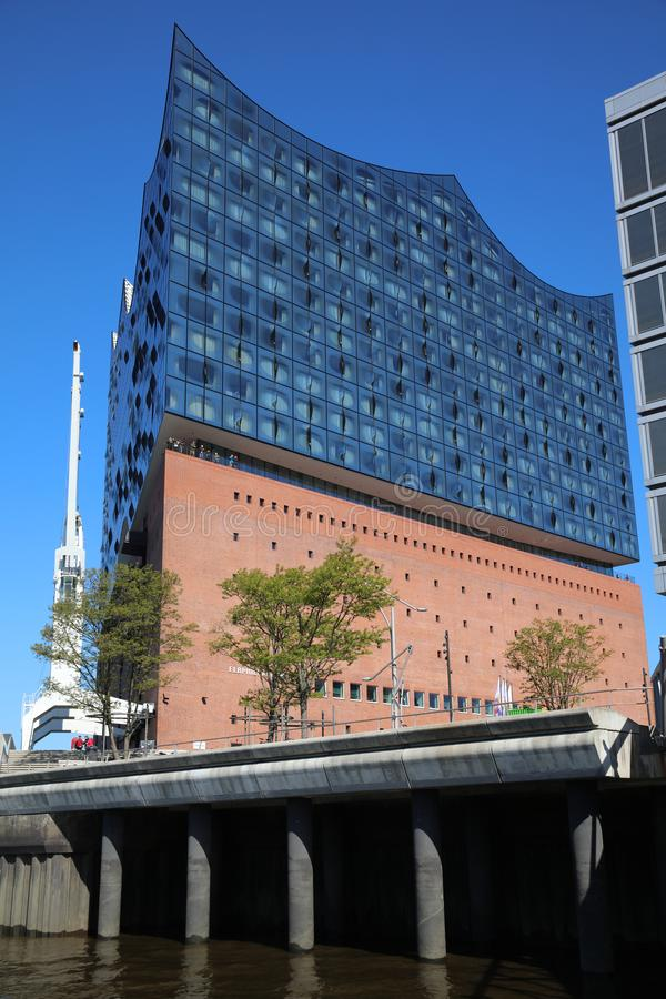 Elbphilharmonie w Hafencity okręgu w Hamburg Niemcy fotografia stock
