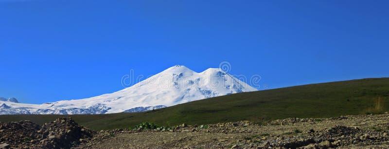 Elbrus山是欧洲高山  库存照片