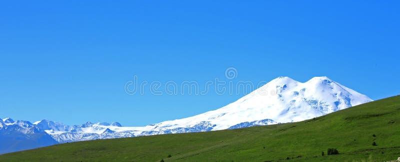 Elbrus山是欧洲高山  库存图片