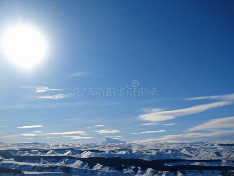 Elbrus山是欧洲高山  免版税库存图片