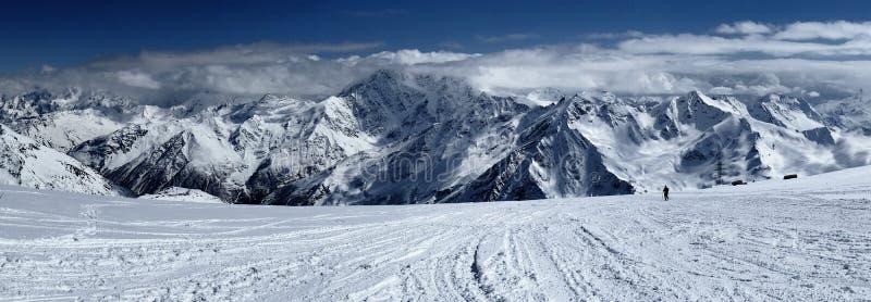 Elbrus,高加索,俄罗斯 库存照片