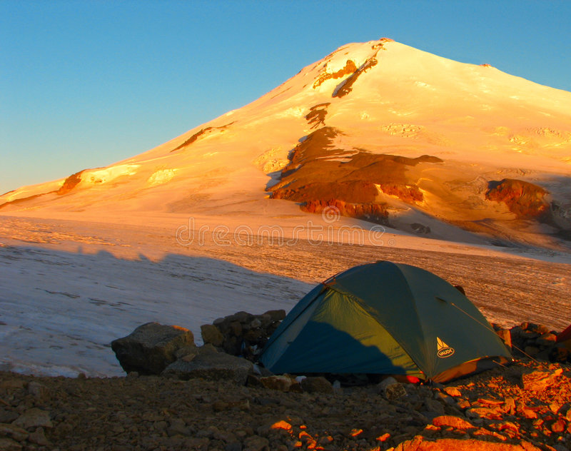Elbrus. East. Sunrise. Caucases. Summer royalty free stock images